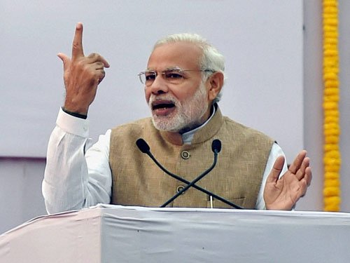 Modi talks of simultaneous LS, assembly polls, Cong takes dig at him