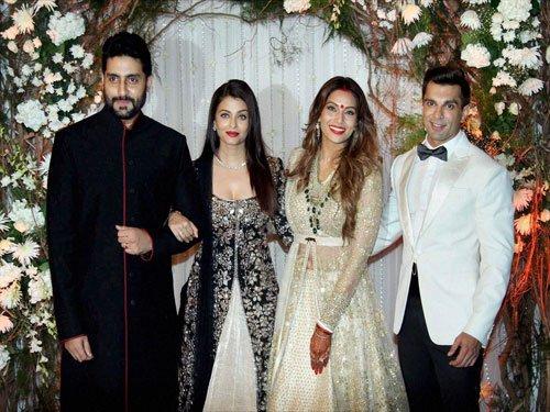 Bachchans, SRK, Salman attend Bipasha-Karan wedding reception