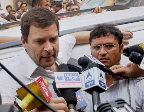 I am happy to be targeted, says Rahul