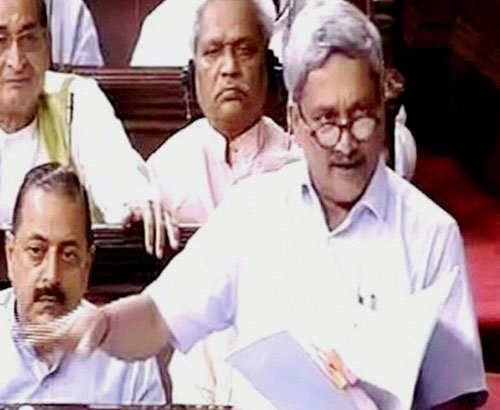 'Invisible hand' in copter scam probe, says Parrikar