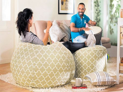 Bean bags to laze on...