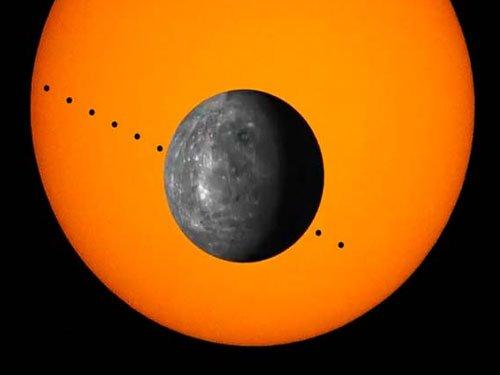 Mercury's transit over sun on Monday