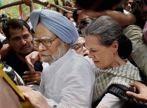 Sonia, Manmohan, Rahul court arrest