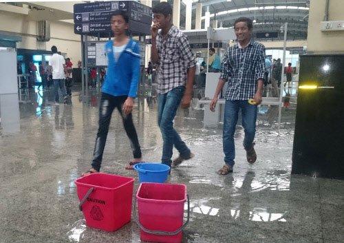 Baiyappanahalli Metro station flooded