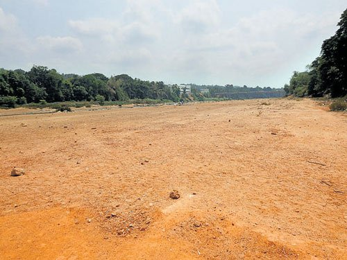 Nethravathi river goes dry in Uppinangady