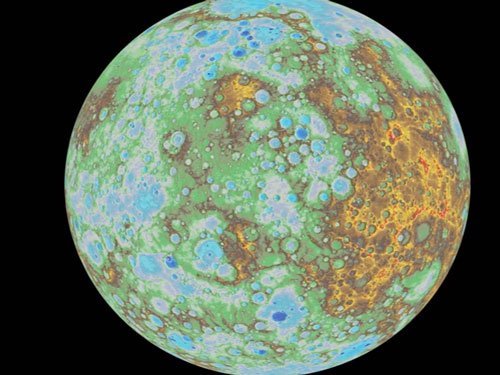 NASA unveils first global topographic model of Mercury