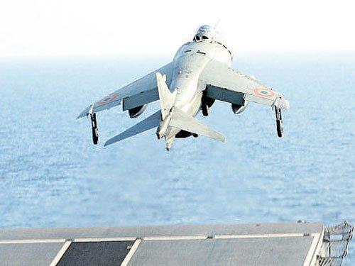 Navy bids adieu to Sea Harriers