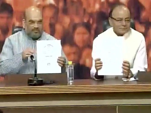 Top BJP leaders show PM's degrees, demand apology from Delhi CM