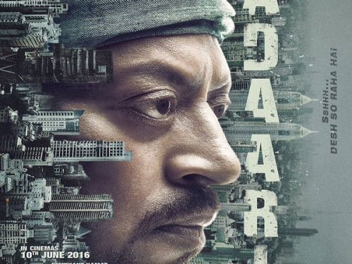 Irrfan unveils first poster of 'Madaari'