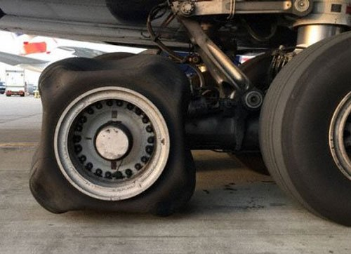 British Airways plane lands with square tyre; baffles experts