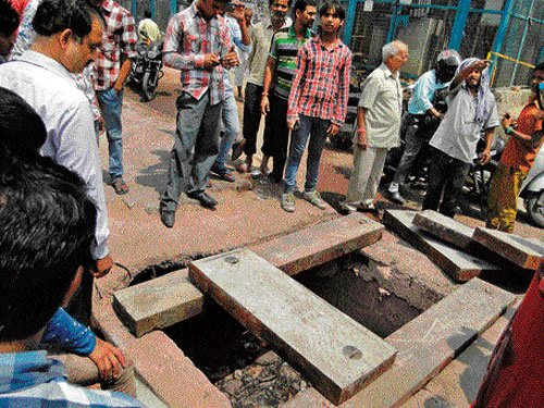 Boy dies after falling in drain
