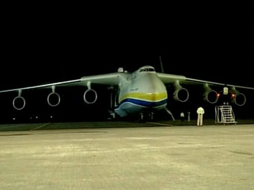 World's largest cargo aircraft -Antonov An-225 Mriya- lands in Hyderabad