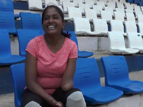 Shalini Saraswathi, a quadruple amputee and 10K runner