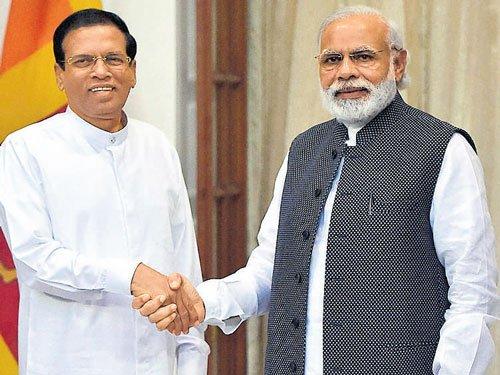 Modi, Sirisena discuss ways to solve fishermen issue