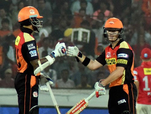 Solid Sunrisers all but through, Kings XI eliminated