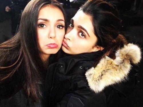 Nina Dobrev posts sad face selfie with Deepika Padukone