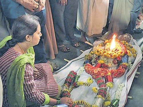 Eloped girl attends father's funeral amid security, abuse by kin