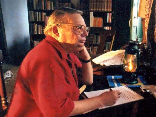 Ruskin Bond penning his autobiography