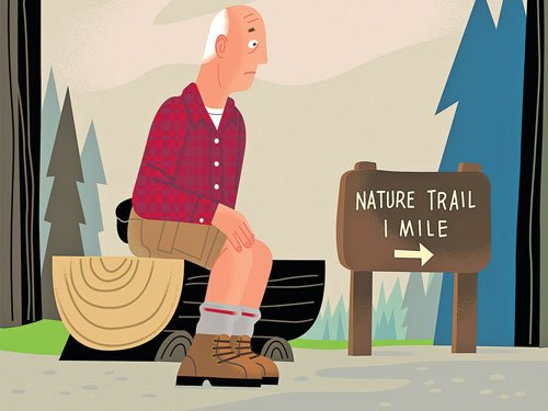 Walking with artery disease, leg pain