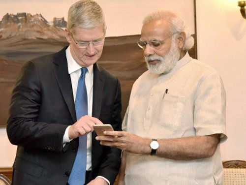 Apple's Cook meets Modi; discusses manufacturing possibilities