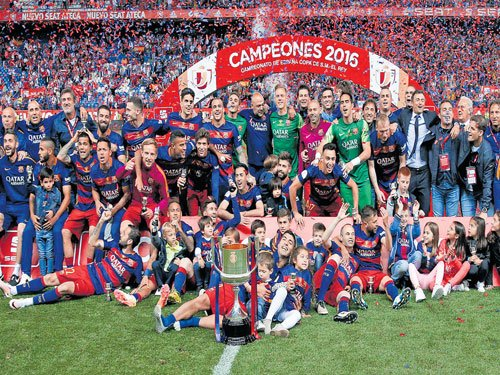 Double delight for Barcelona