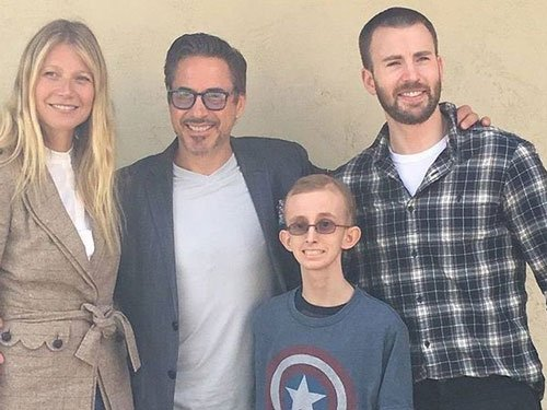 Avengers stars pay special visit to fan battling cancer