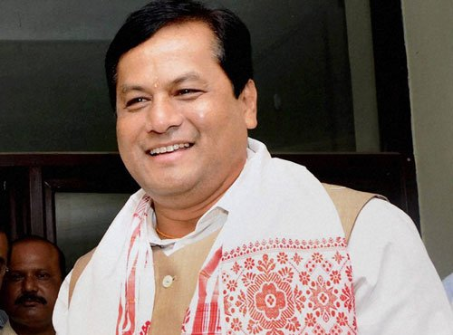 Sonowal sworn in as Assam CM, PM, Shah present at function