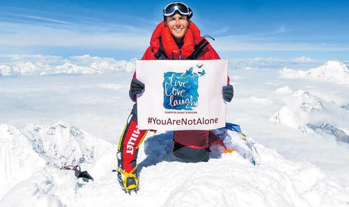 He scaled Everest to create awareness about depression