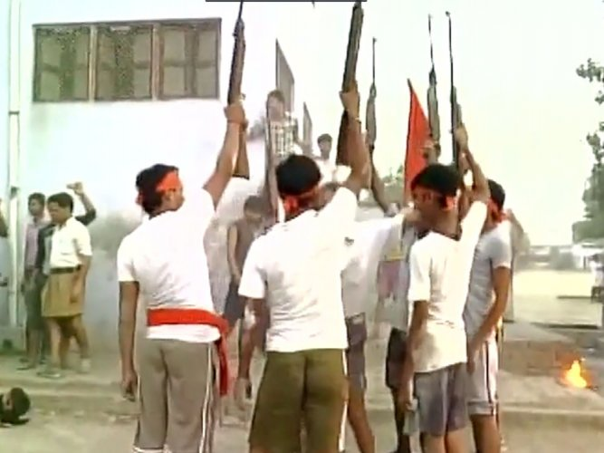 Faizabad Bajrang Dal chief held over holding weapons training camp