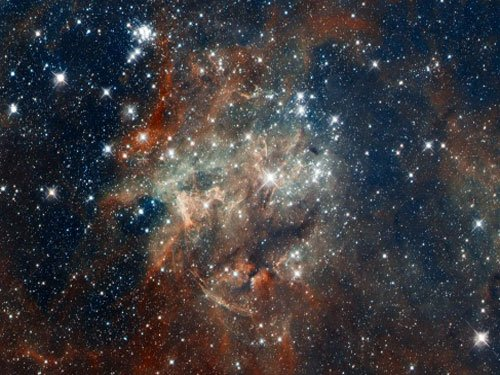 Vast cluster of galaxies spotted in early universe