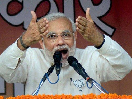 Modi hard sells NDA govt's performance