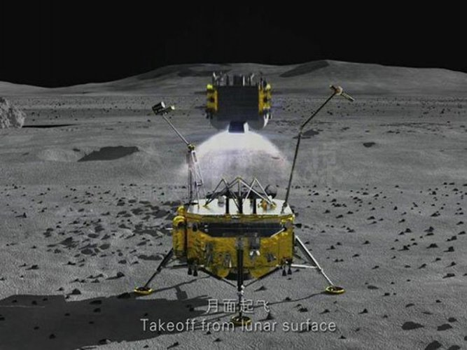 China's lunar probe to land on moon next year and return