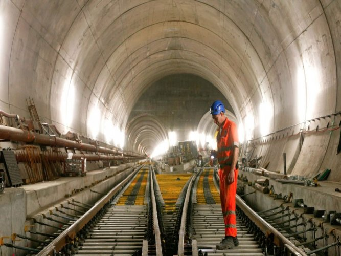 World's longest rail tunnel sees light at end of decades' wait