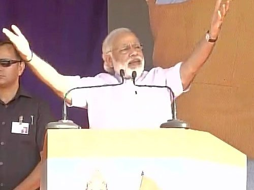 Will not tread 'path of sin' to pursue development: Modi