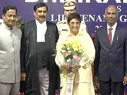 Kiran Bedi assumes charge as LG of Puducherry
