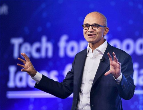 It's about celebrating tech that India creates: Nadella