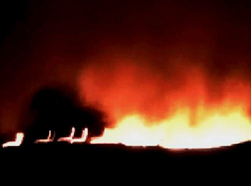 Villagers woken by loud noise as arms depot went up in flames