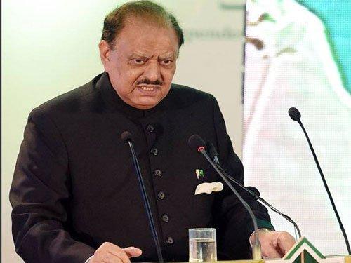 India 'running away' from talks, says Pak President