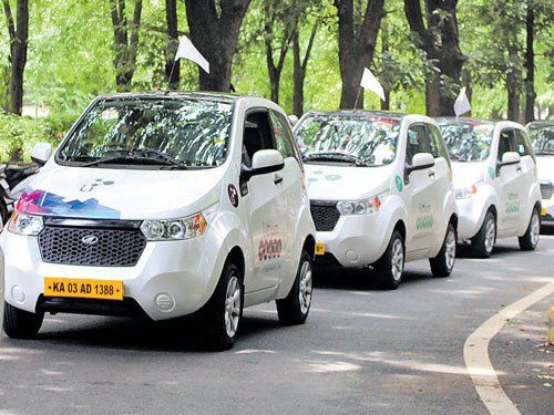 12 electric cars take part in green parade