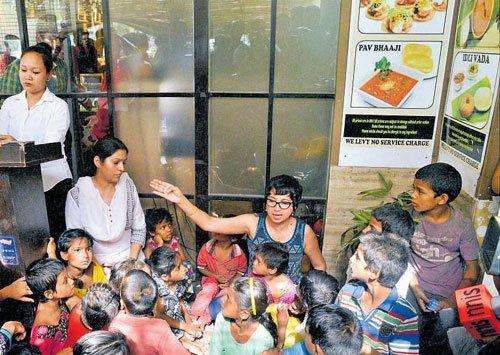 Upscale Delhi restaurant denies entry to street kids