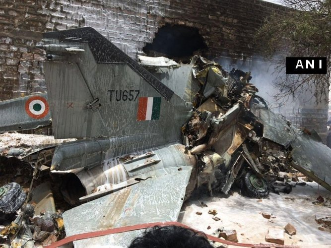 Rajasthan:MiG-27 crashes, pilot ejects safely