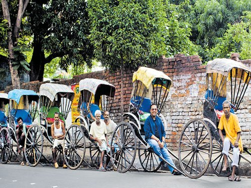 Paying ode to rickshaw-pullers
