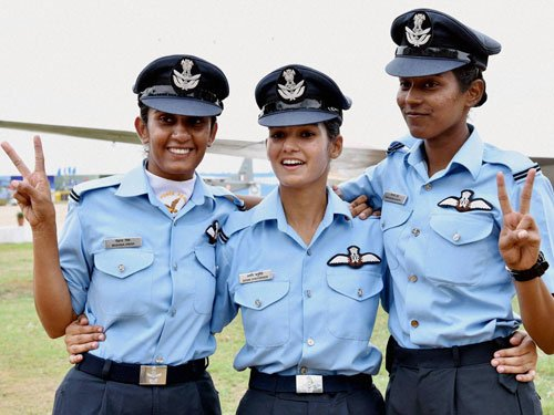 Three women commissioned as country's first fighter pilots