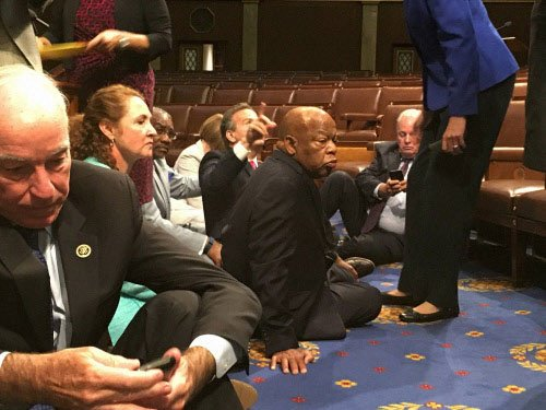 US House Democrats stage sit-in demanding gun control laws