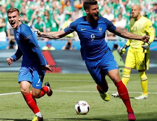 Griezmann fires hosts France into Euro quarters