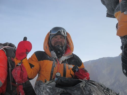 An asthma patient, who climbed the Everest