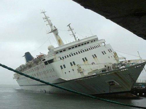 Ship docked near MPT runs aground due to rain water ingress