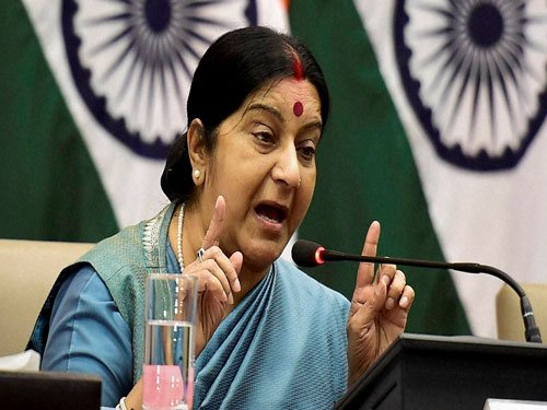 Countries harbouring terrorists should pay the price: Swaraj