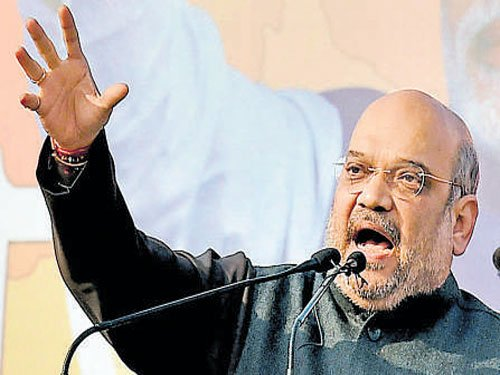 Nitish a 'vote katwa', will divide votes to benefit SP: Shah