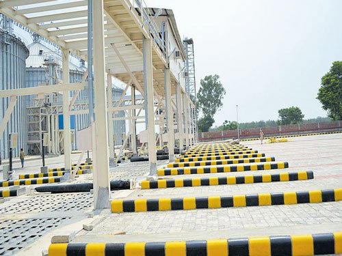 Steel silos to  save rotting grains in Punjab